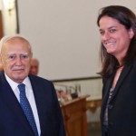 Με τον τ. Πρόεδρο της Δημοκρατίας, κ. Κάρολο Παπούλια